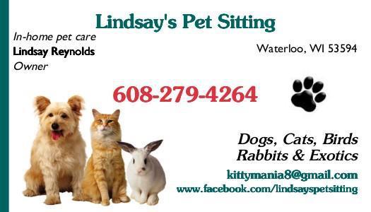 Lindsay's Pet Sitting